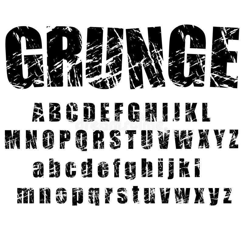 1字母表grunge 库存例证
