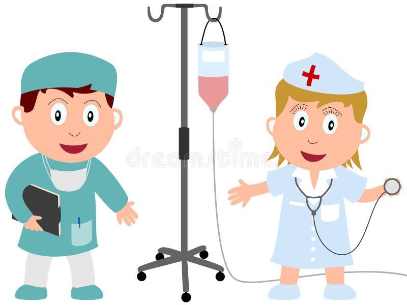 1工作孩子医学 库存例证