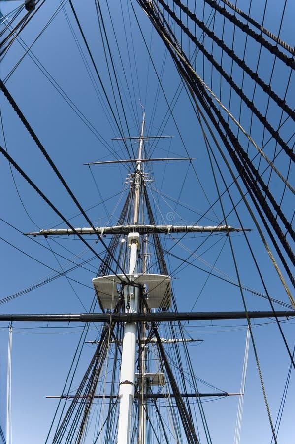 1帆柱装配 免版税库存照片