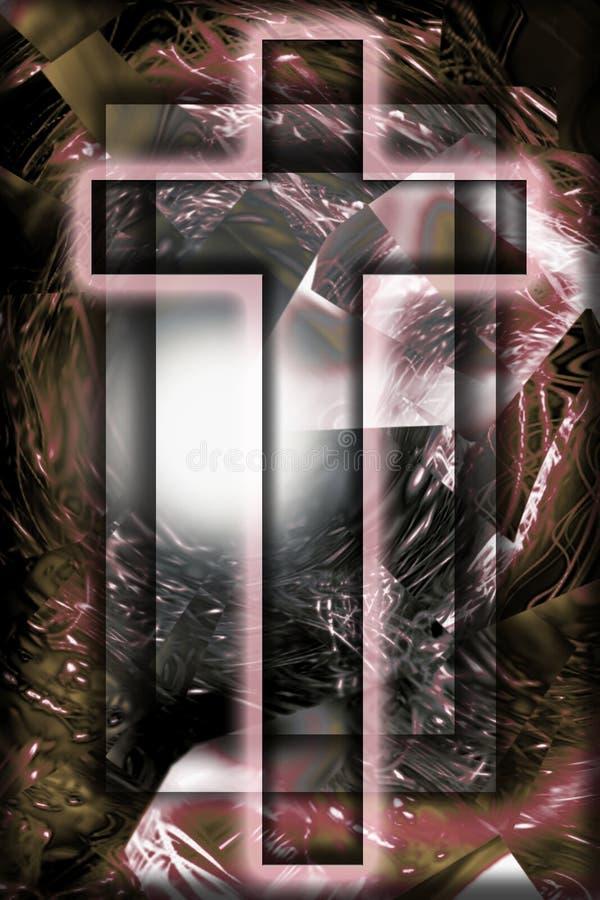 1幅耶稣受难象 免版税图库摄影