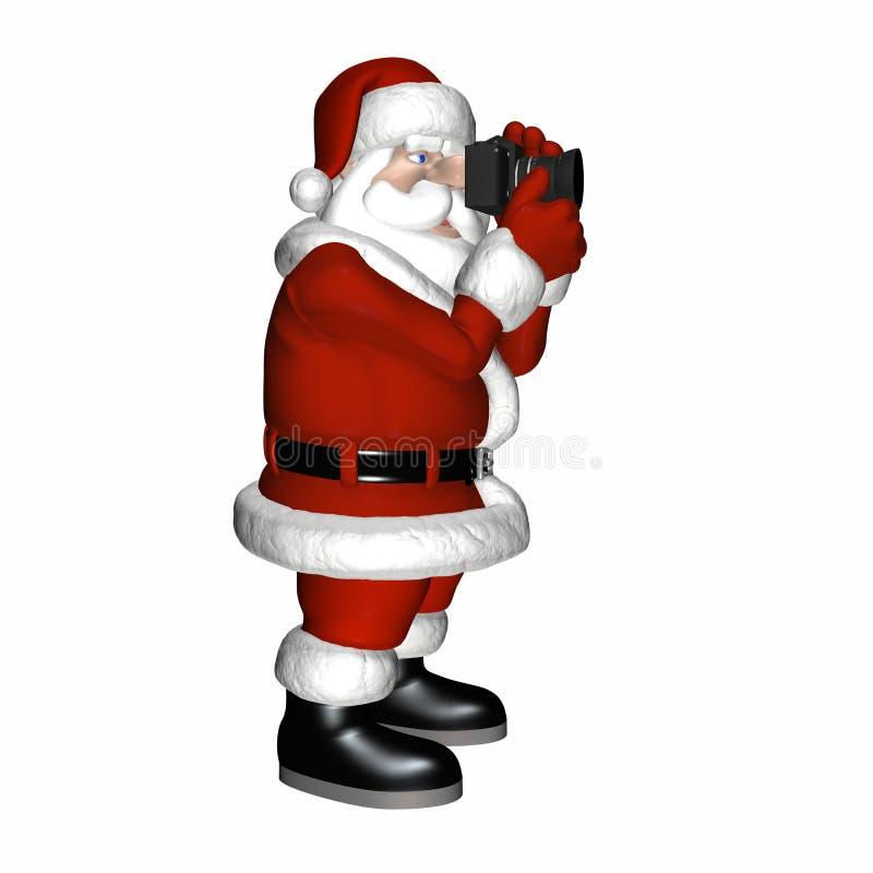 1张照片圣诞老人 向量例证