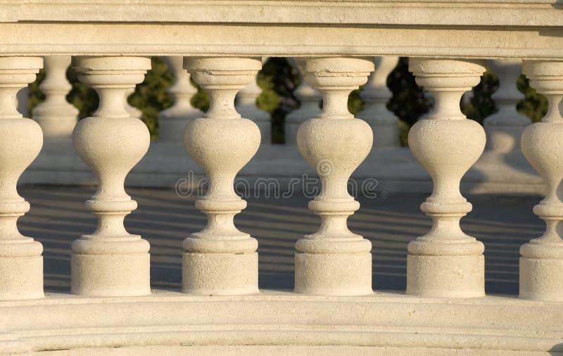 1弯曲的柱子 库存照片