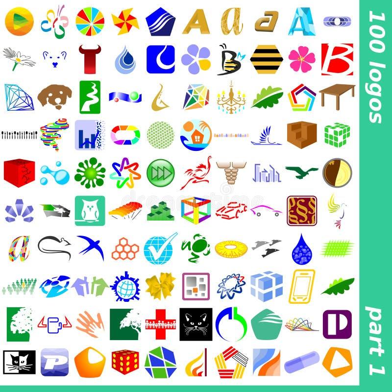1徽标符号 皇族释放例证