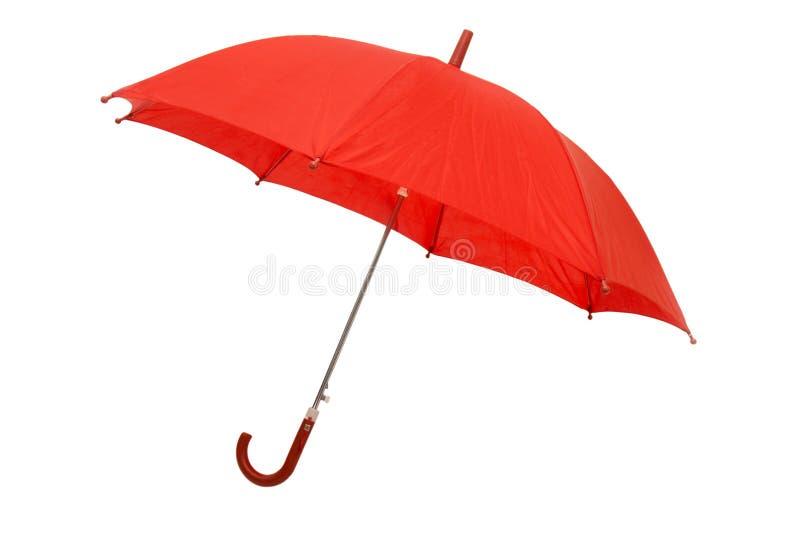 1把红色伞 免版税库存照片