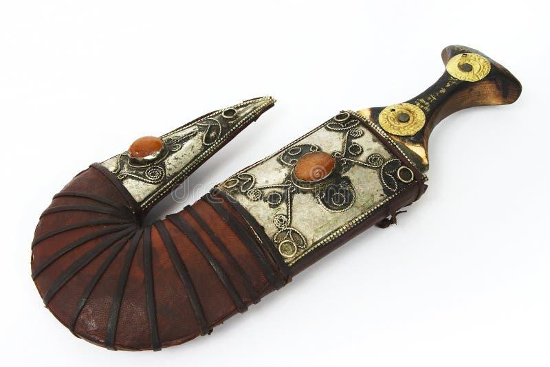 1把阿拉伯匕首 免版税库存图片