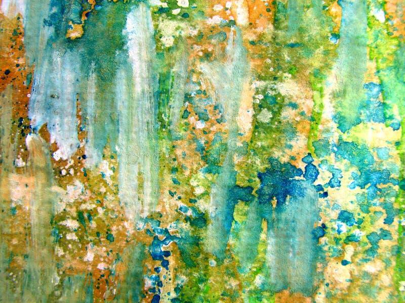 1抽象五颜六色的水彩 库存例证