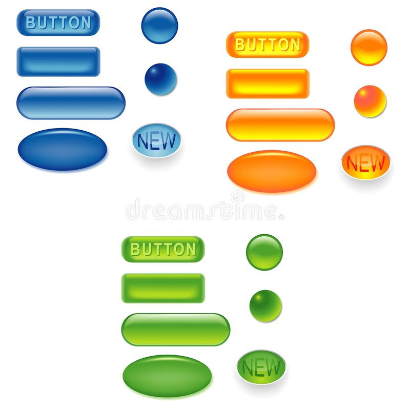 1按钮卷 向量例证