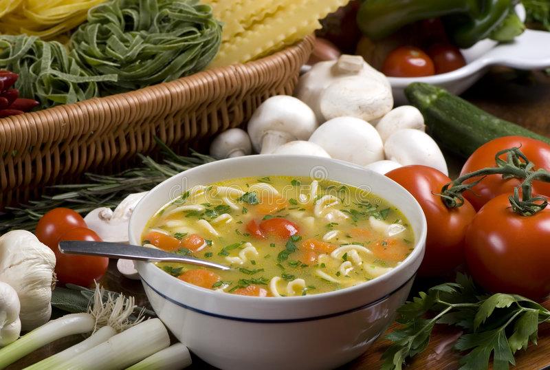 1新鲜的汤 库存图片