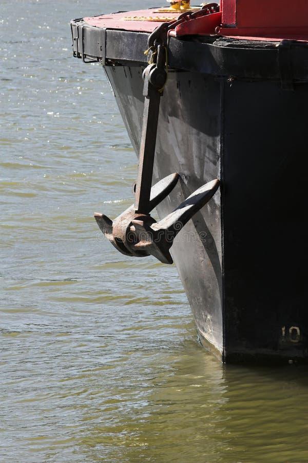 1条锚点小船 库存照片