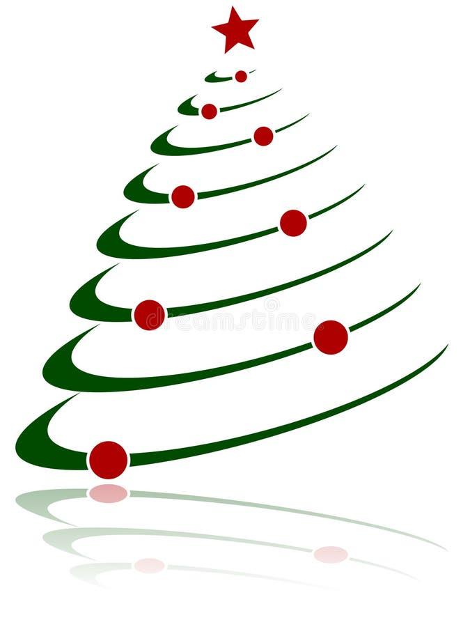 1棵抽象圣诞树 库存例证