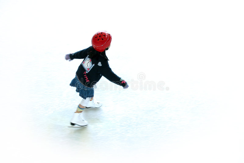 1次滑冰 免版税库存照片