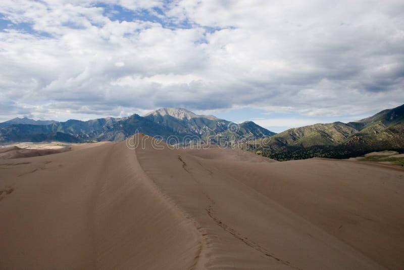1沙丘极大的沙子 库存图片