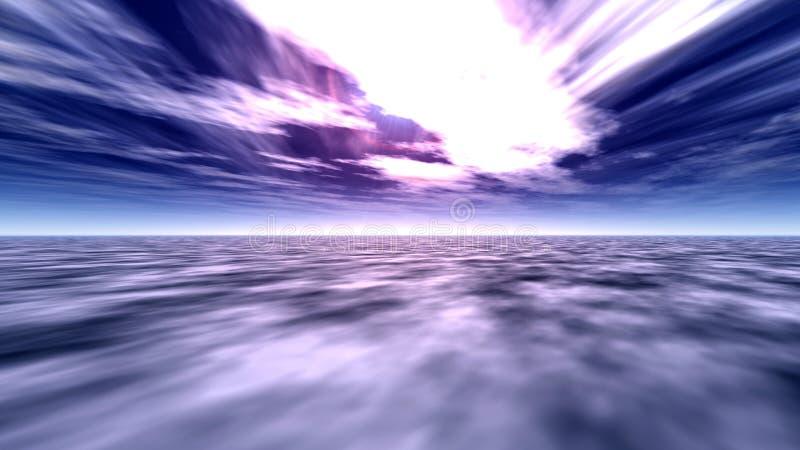 1海洋天空 向量例证