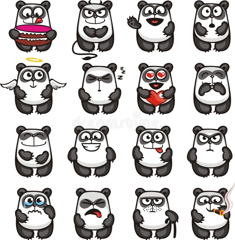 1滑稽的熊猫 库存例证