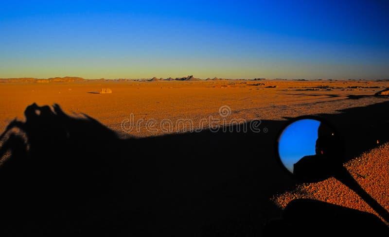 1片沙漠没有日落 图库摄影