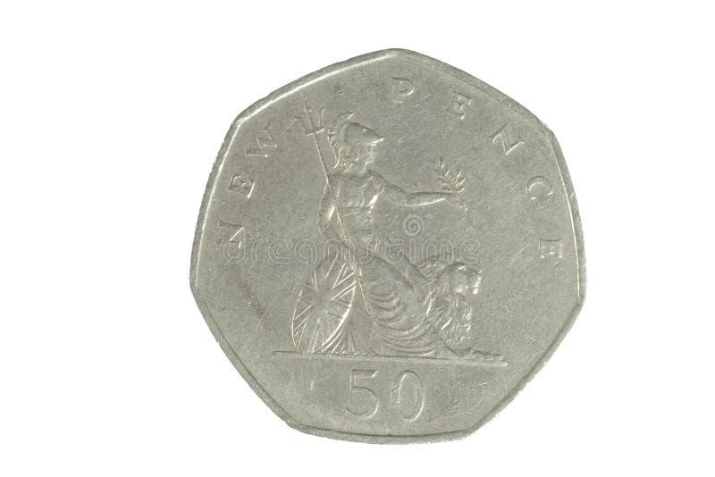 1硬币英语 免版税图库摄影