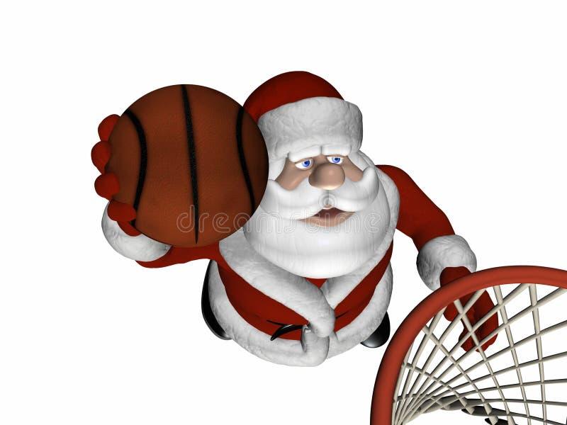 1篮球圣诞老人 库存例证