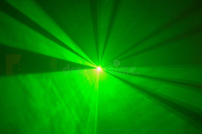 1绿色激光 免版税库存图片