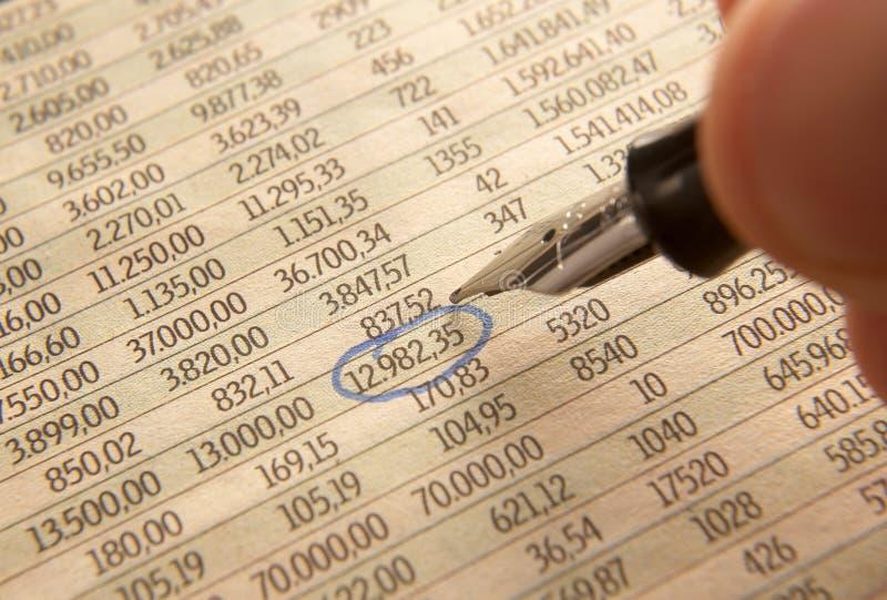 1编号书写股票 免版税库存照片