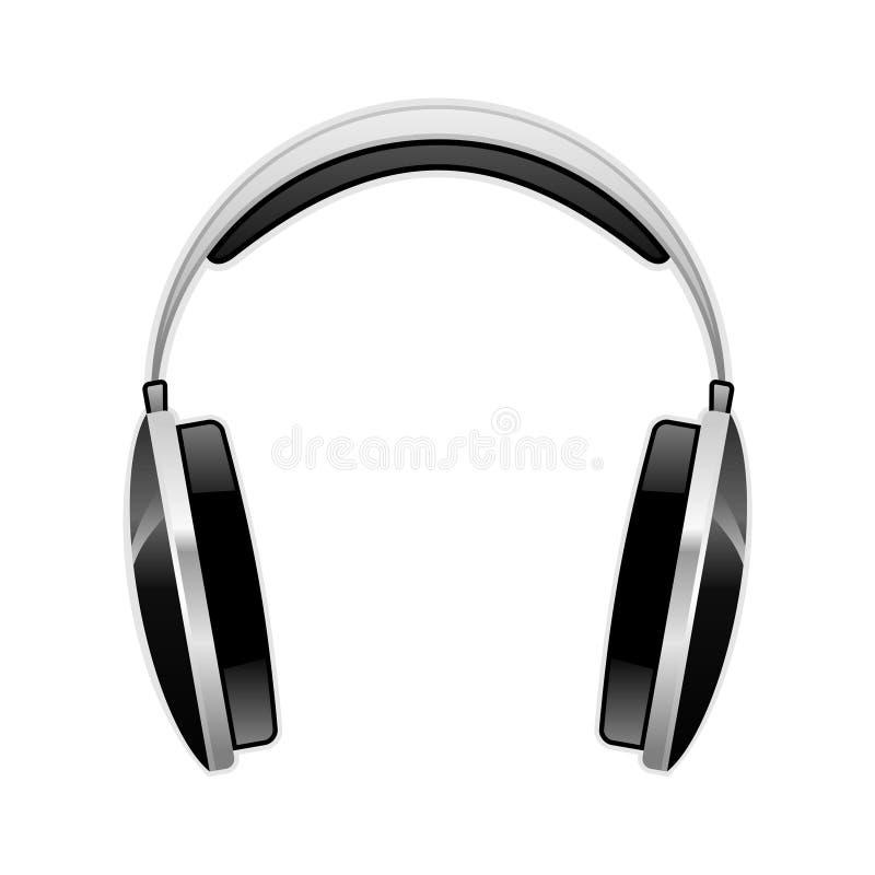 1耳机 向量例证
