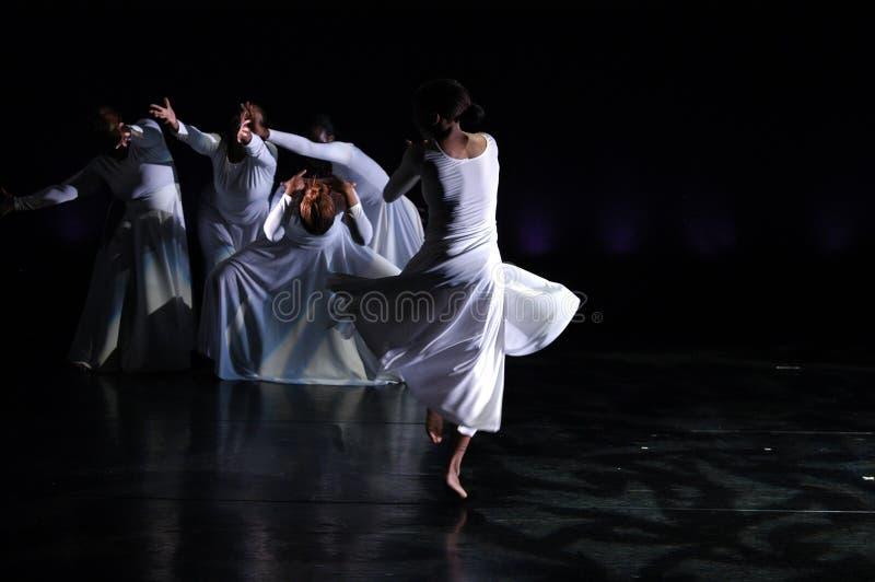 1舞蹈现代性能 免版税库存照片