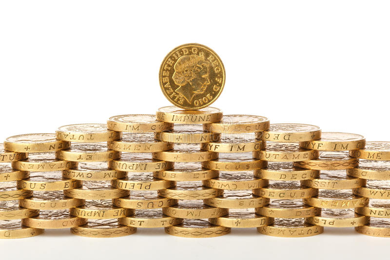 1英国硬币镑 免版税图库摄影