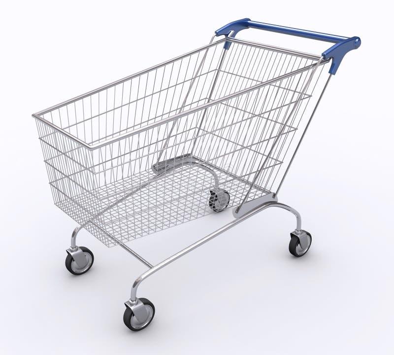 1角度购物车购物 库存例证
