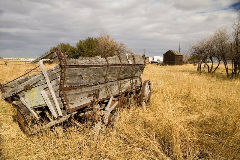 1辆谷物无盖货车 免版税库存图片