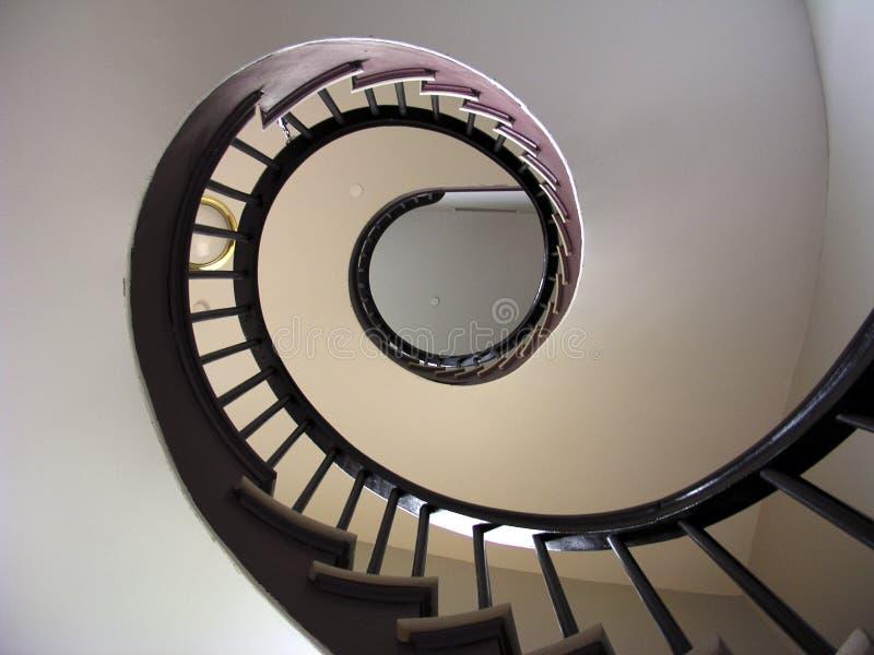 1部螺旋形楼梯 库存图片