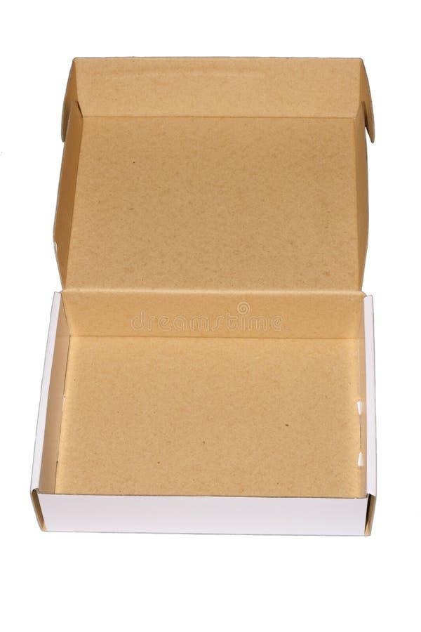 1配件箱白色 皇族释放例证
