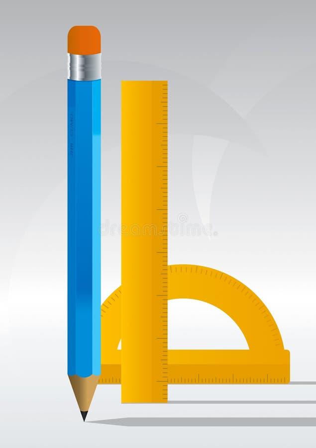 1铅笔 向量例证