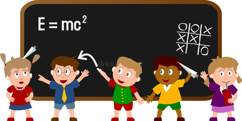 1间教室开玩笑学校 向量例证