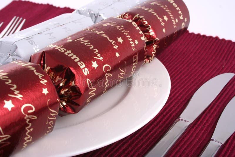 1顿圣诞节午餐 免版税库存图片