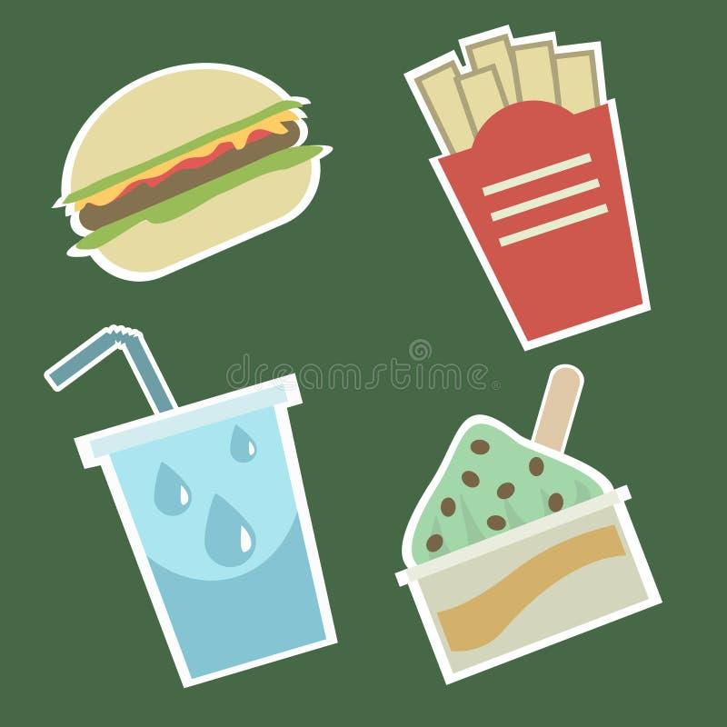 1食物图标 向量例证