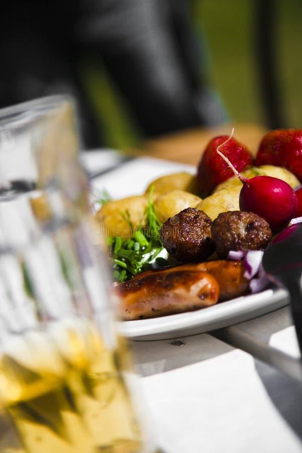 1食物夏天瑞典 库存照片