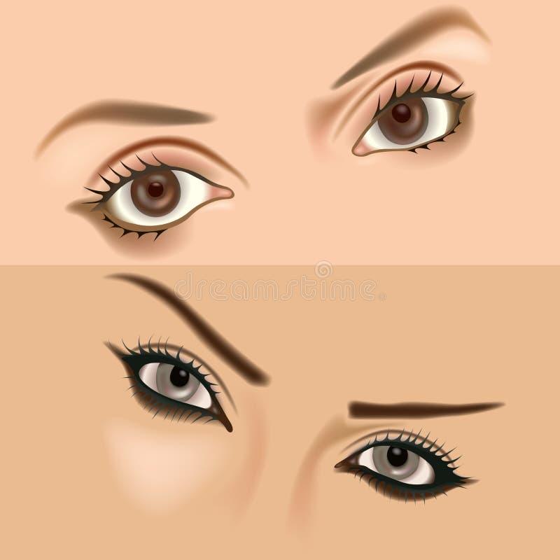 1 ögon vol stock illustrationer