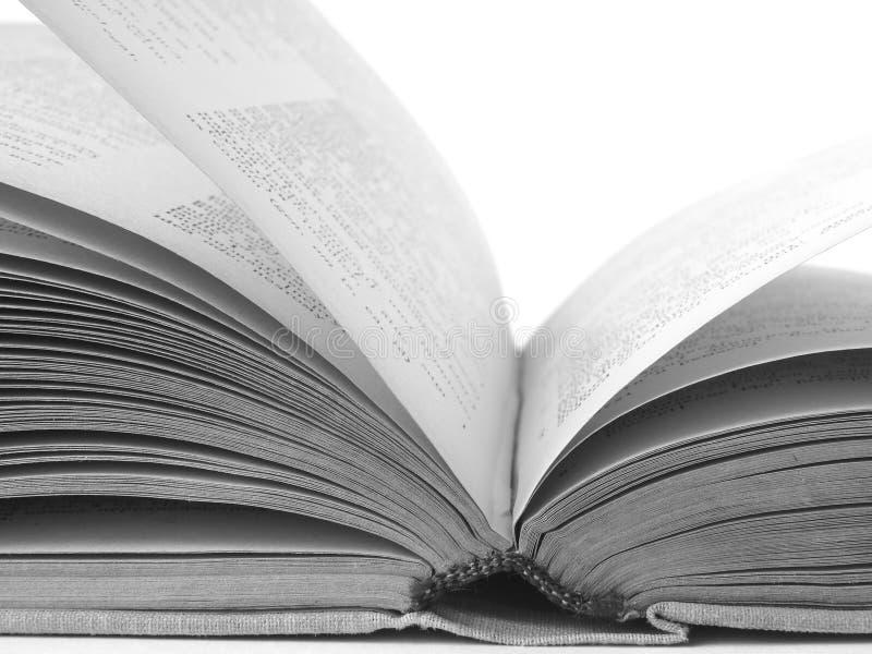 1 öppna bok arkivfoto