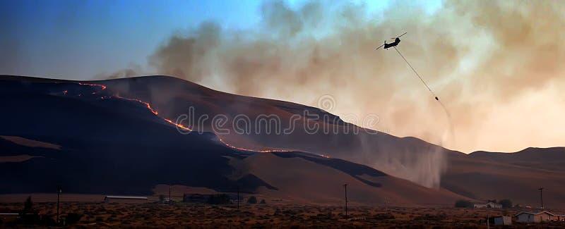 (1) śmigłowcowy typ pożar zdjęcia stock