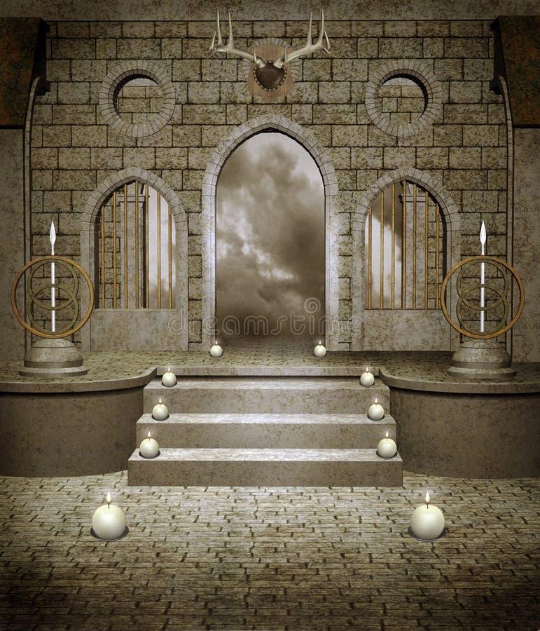 1 αίθουσα μεσαιωνική διανυσματική απεικόνιση