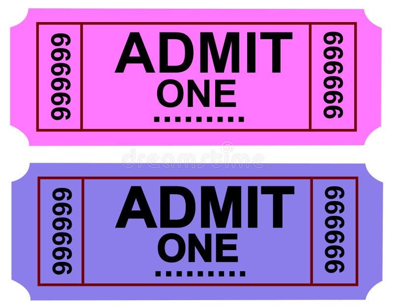 1 αναγνωρίζει το εισιτήρι&omi απεικόνιση αποθεμάτων