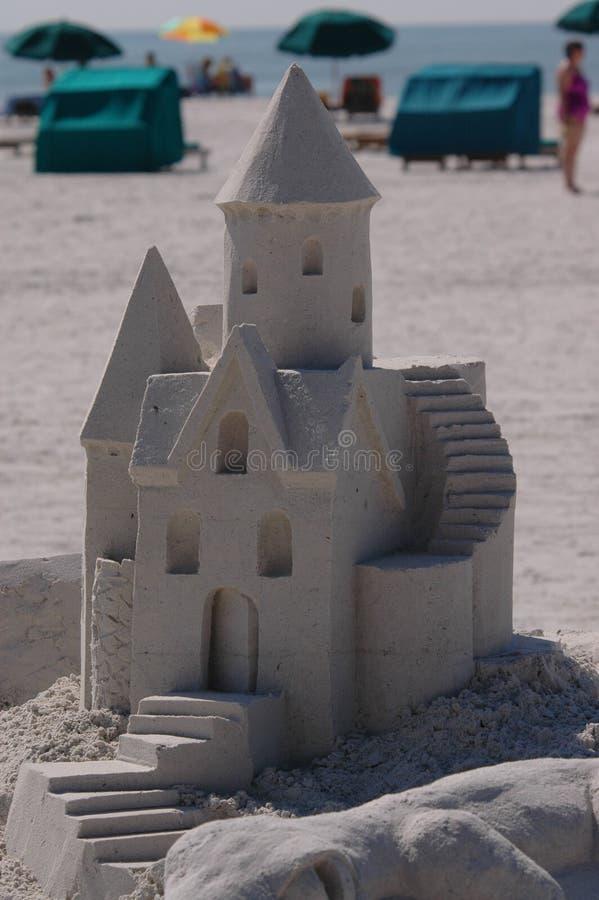 1 ανταγωνισμός sandcastle στοκ φωτογραφία με δικαίωμα ελεύθερης χρήσης