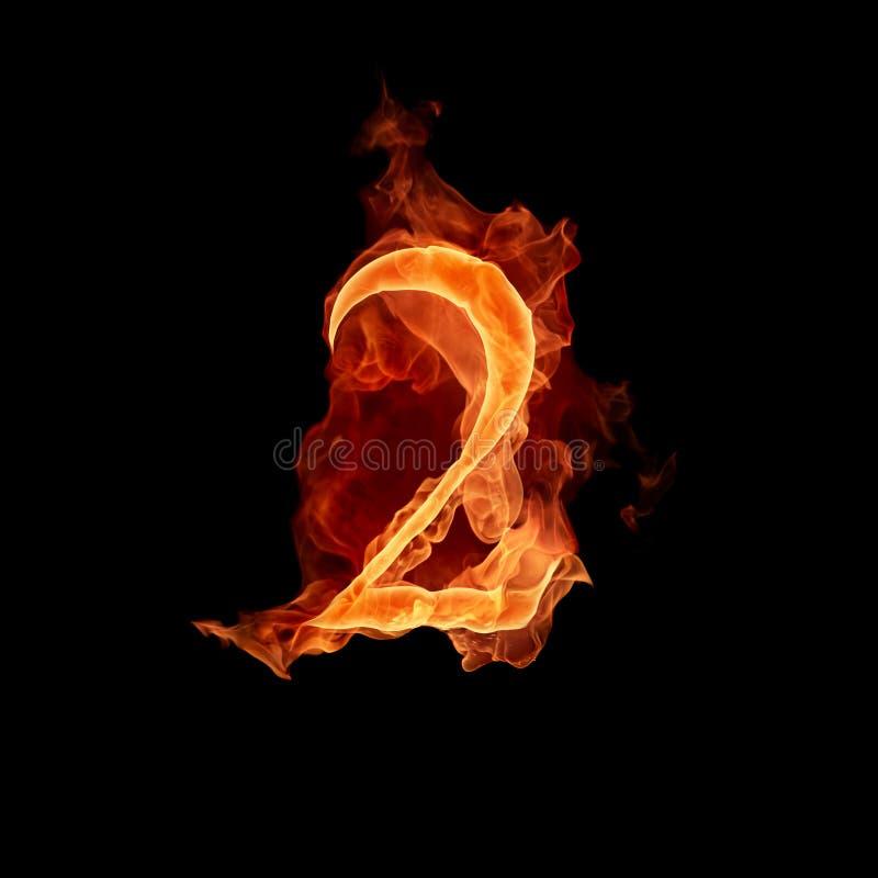 1 αριθμός καψίματος διανυσματική απεικόνιση
