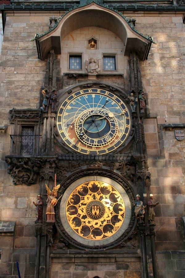 1 αστρονομικό ρολόι Πράγα στοκ εικόνες