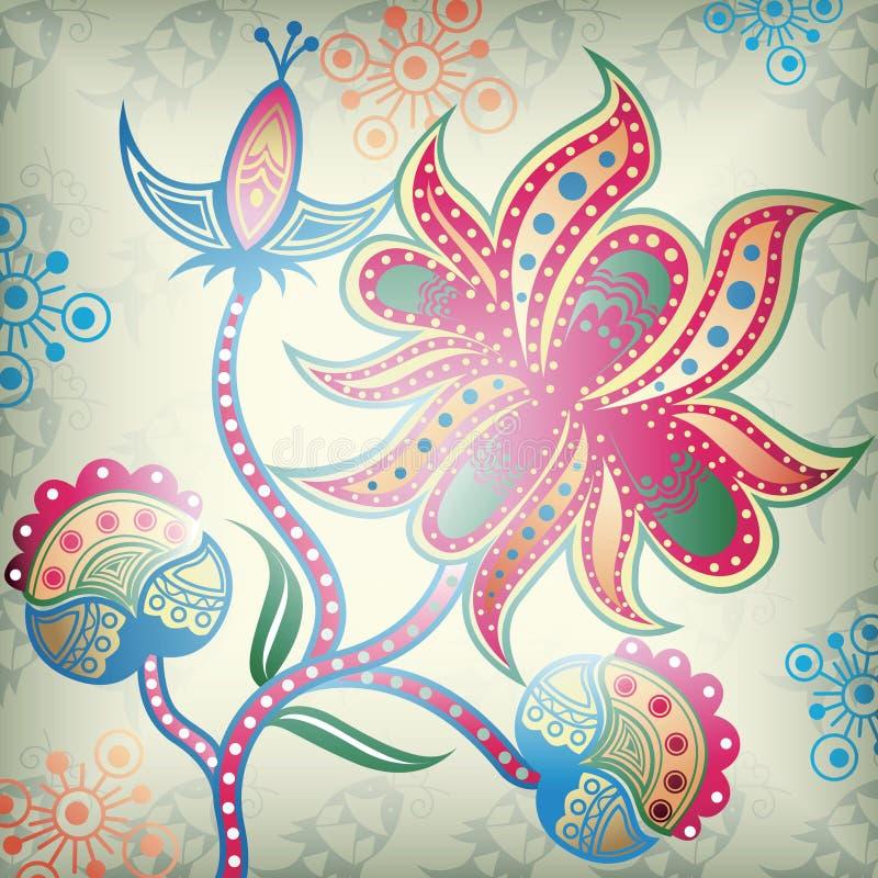 1 αφηρημένος floral διανυσματική απεικόνιση