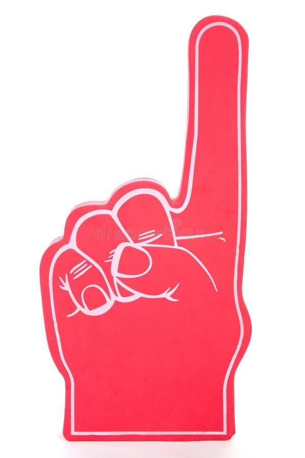 1 αφρός αριθ. δάχτυλων στοκ φωτογραφία με δικαίωμα ελεύθερης χρήσης