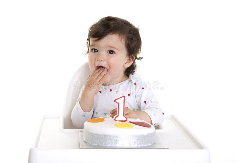1$α γενέθλια μωρών στοκ φωτογραφία