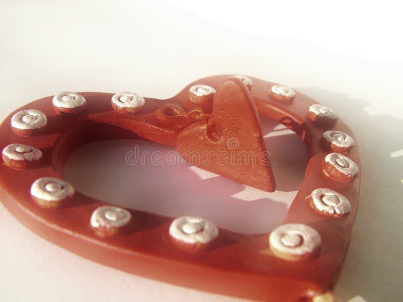 1 βαλεντίνος καρδιών ανασ&ka στοκ εικόνες με δικαίωμα ελεύθερης χρήσης