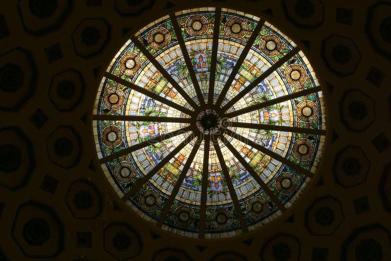 1 γυαλί κύκλων που λεκιάζουν στοκ εικόνα με δικαίωμα ελεύθερης χρήσης