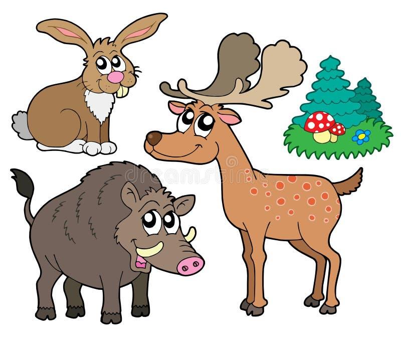 1 δάσος συλλογής ζώων ελεύθερη απεικόνιση δικαιώματος
