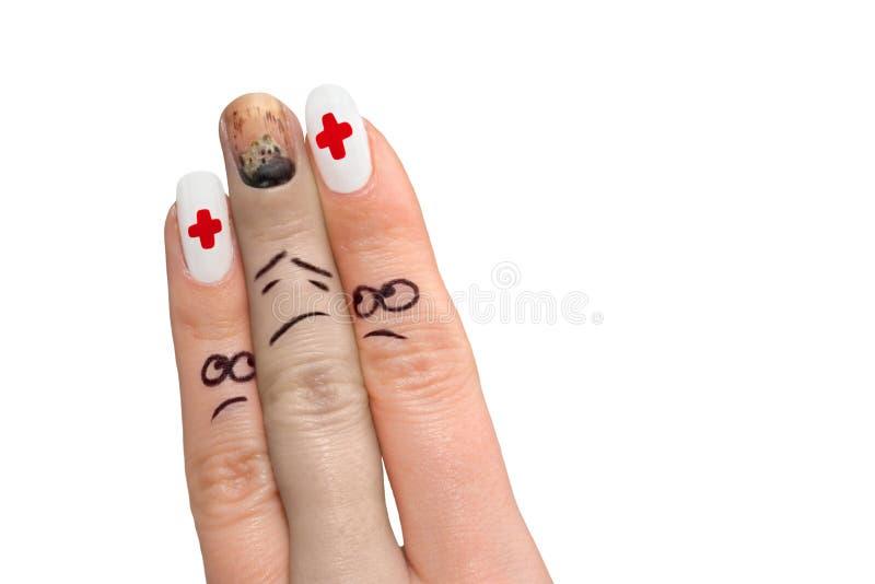 1 δάχτυλο εμφανίζει στοκ εικόνες με δικαίωμα ελεύθερης χρήσης